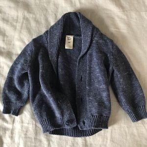 Baby Bgosh Blue Shawl Collar Sweater